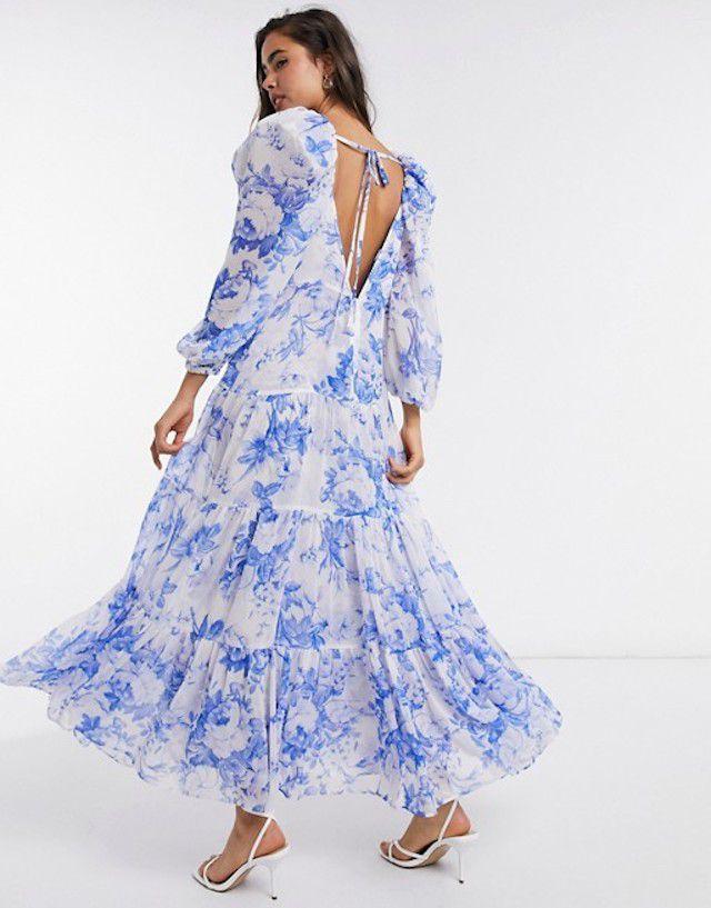 ASOS EDITION Tiered Midi Dress $96.60 (originally $151)