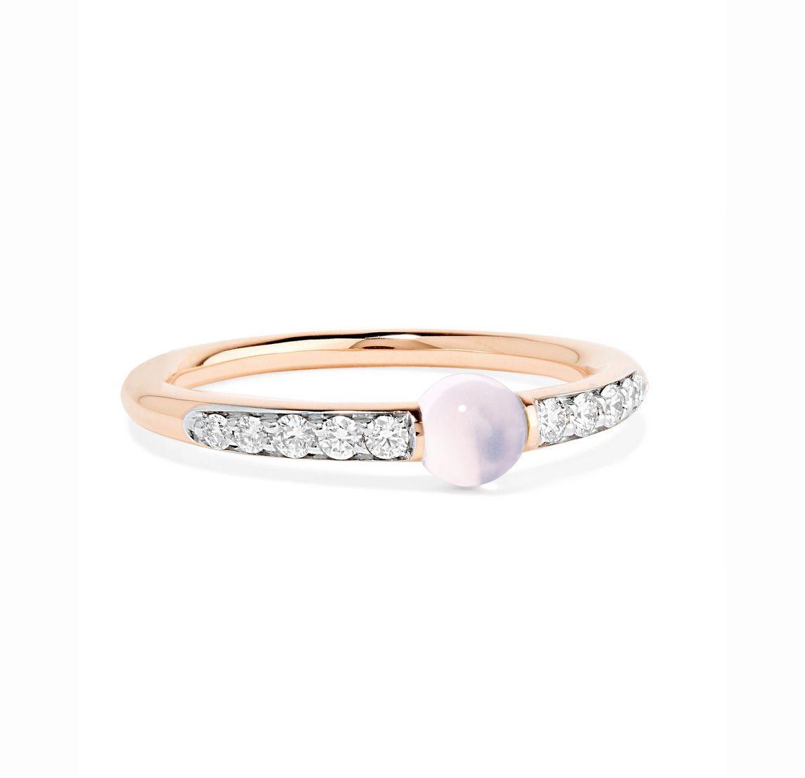 M'ama non M'ama moonstone & diamond ring