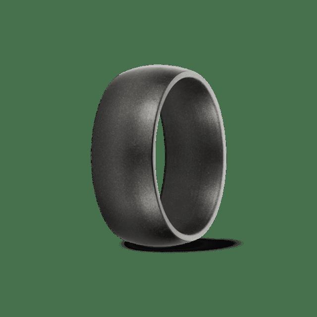 Saferingz Titan Gunmetal Metallic Silicone Wedding Band