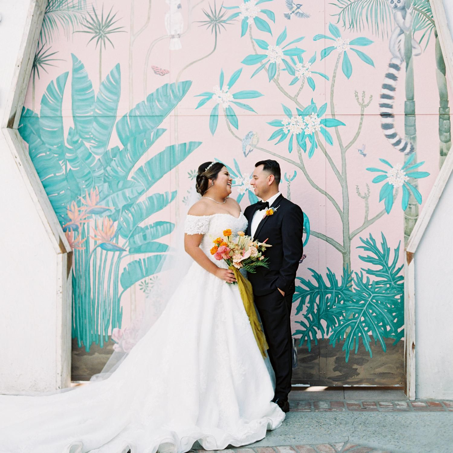 A Vibrant Tropical Wedding In Downtown Los Angeles
