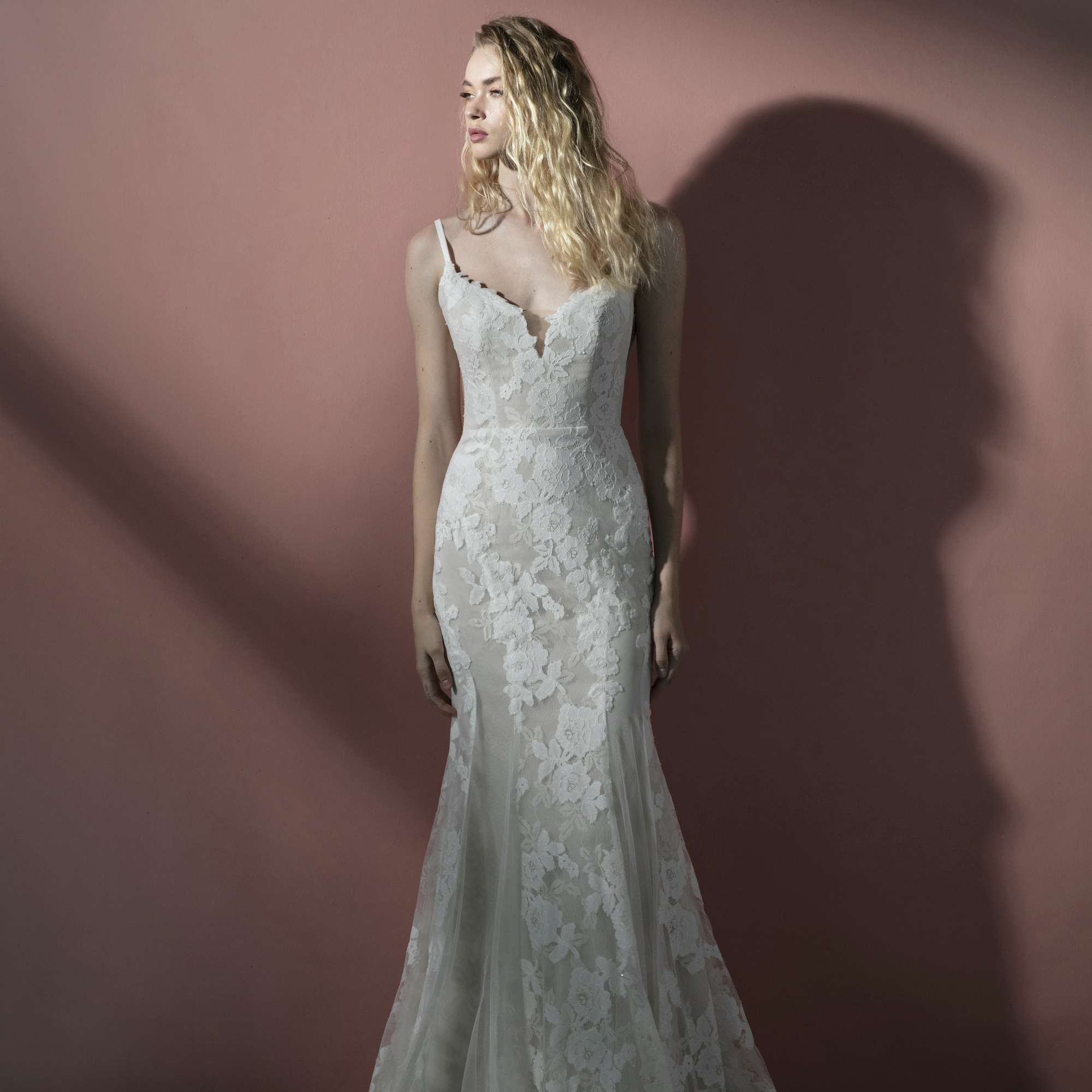 Dove fit-and-flare wedding dress