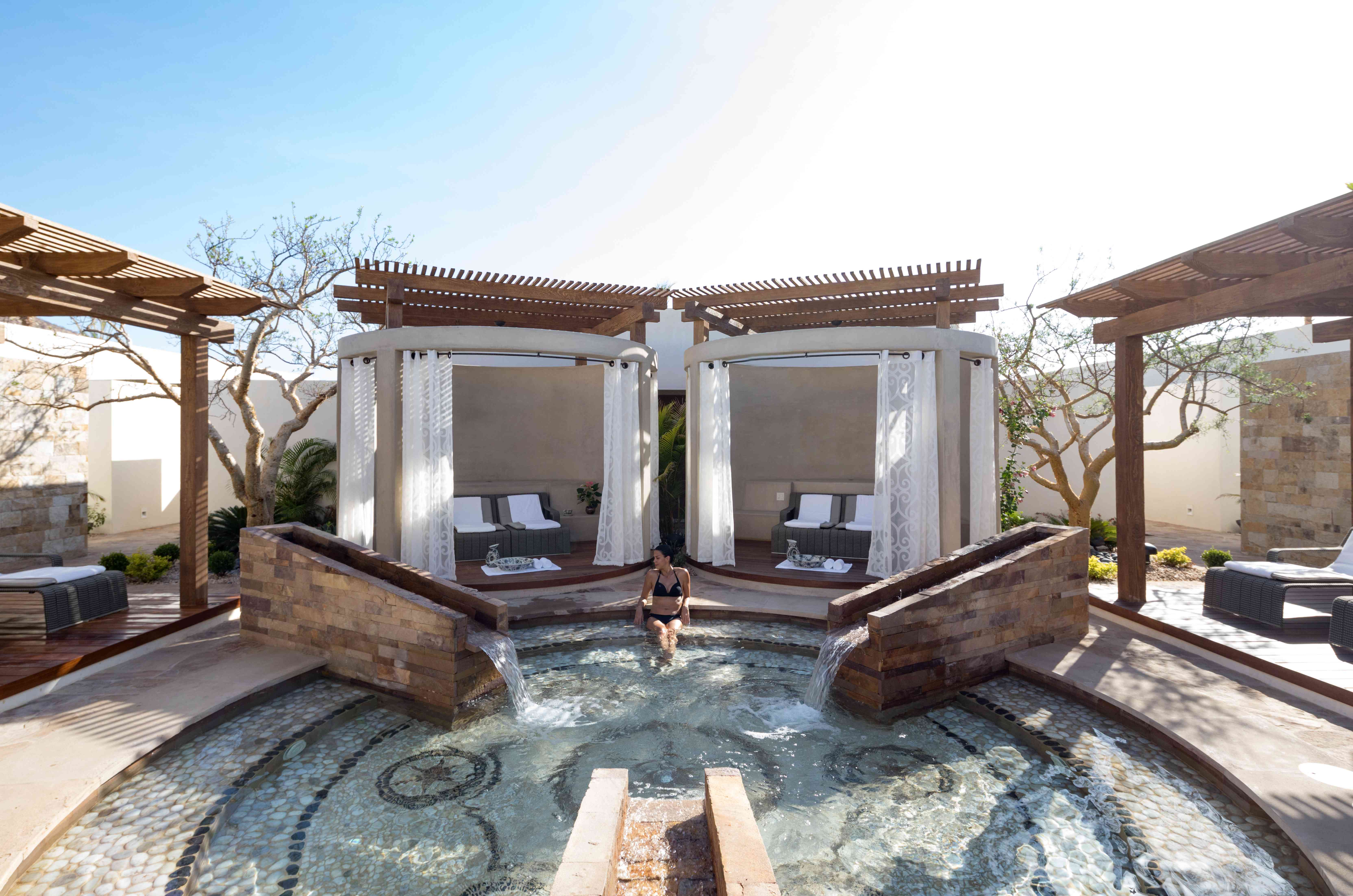 A woman at the Auberge Spa at Chileno Bay Resort & Residences