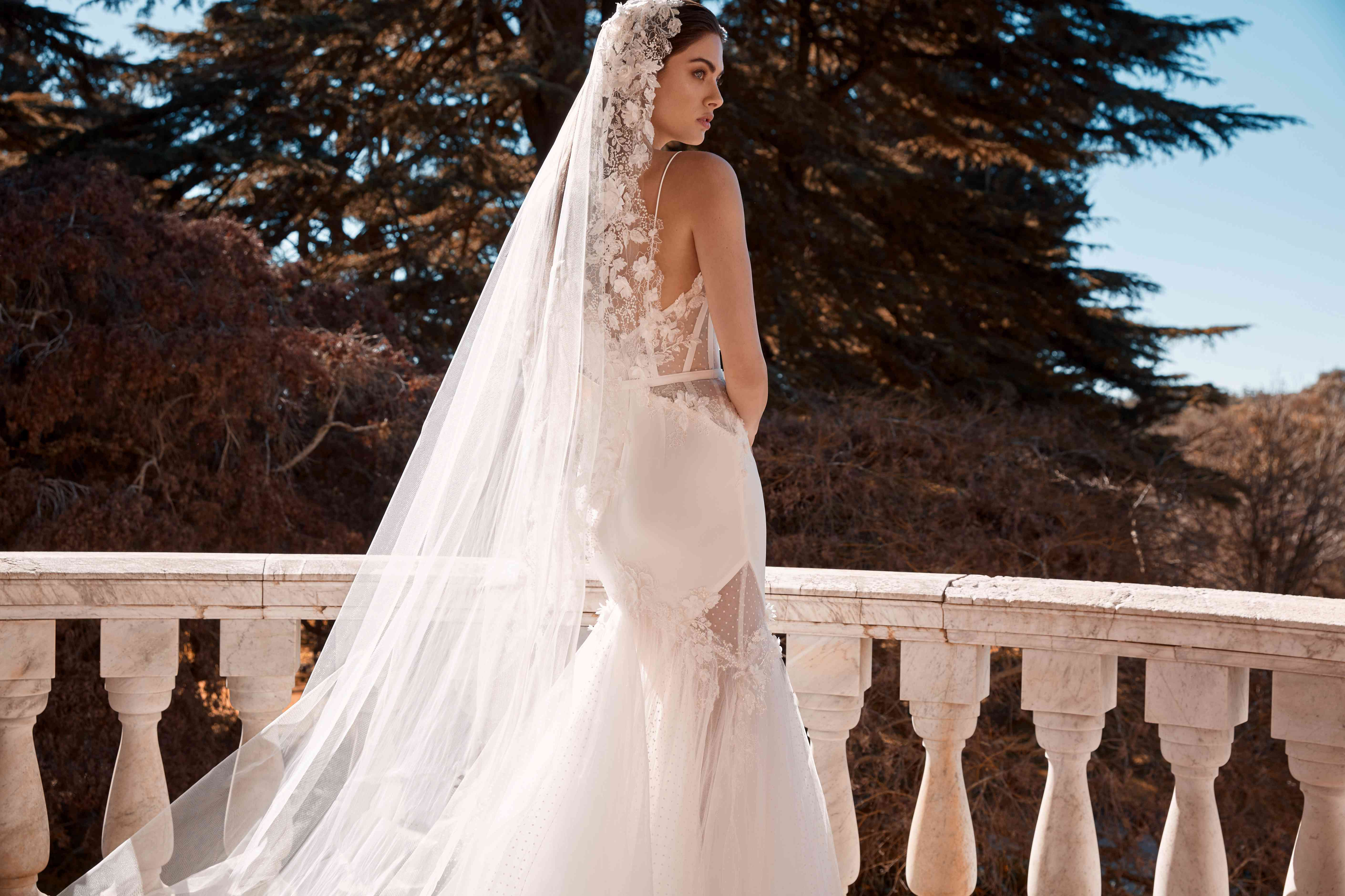 Evelyn embroidered wedding veil