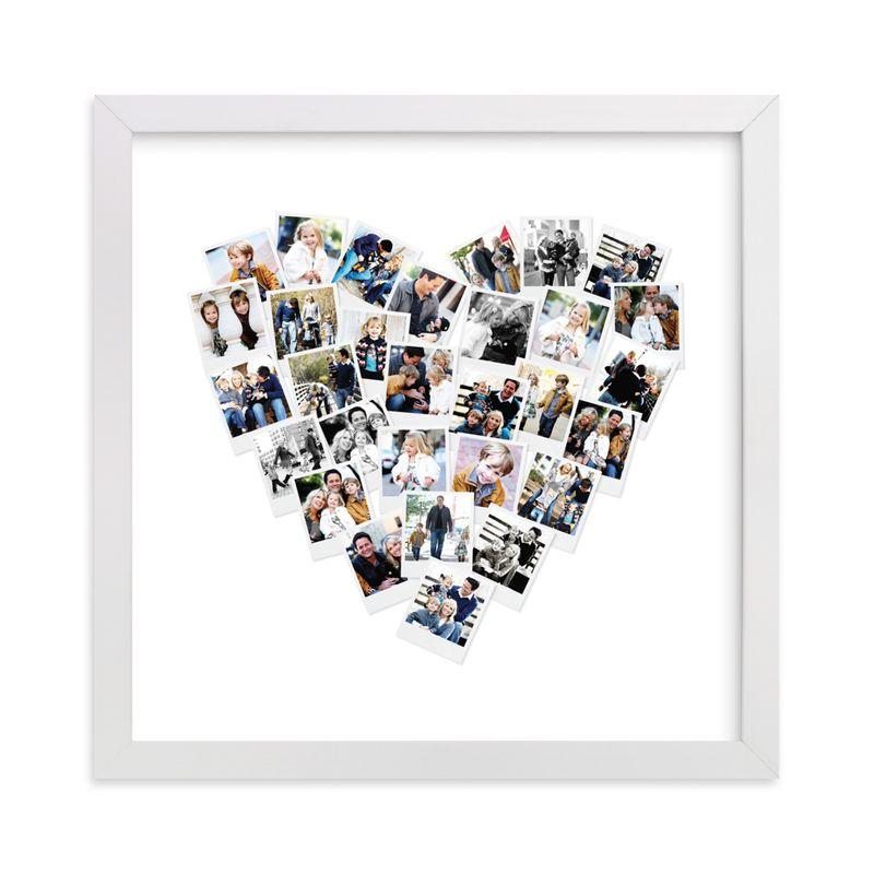 minted heart art