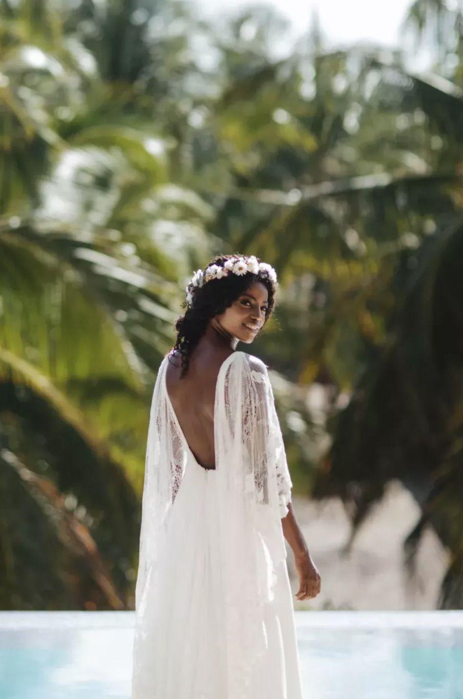 Bridal portrait by pool