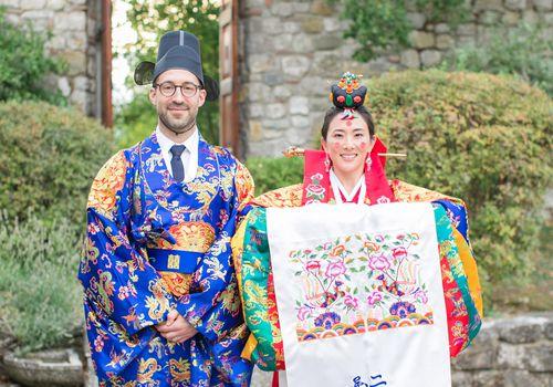 bride groom Korean attire