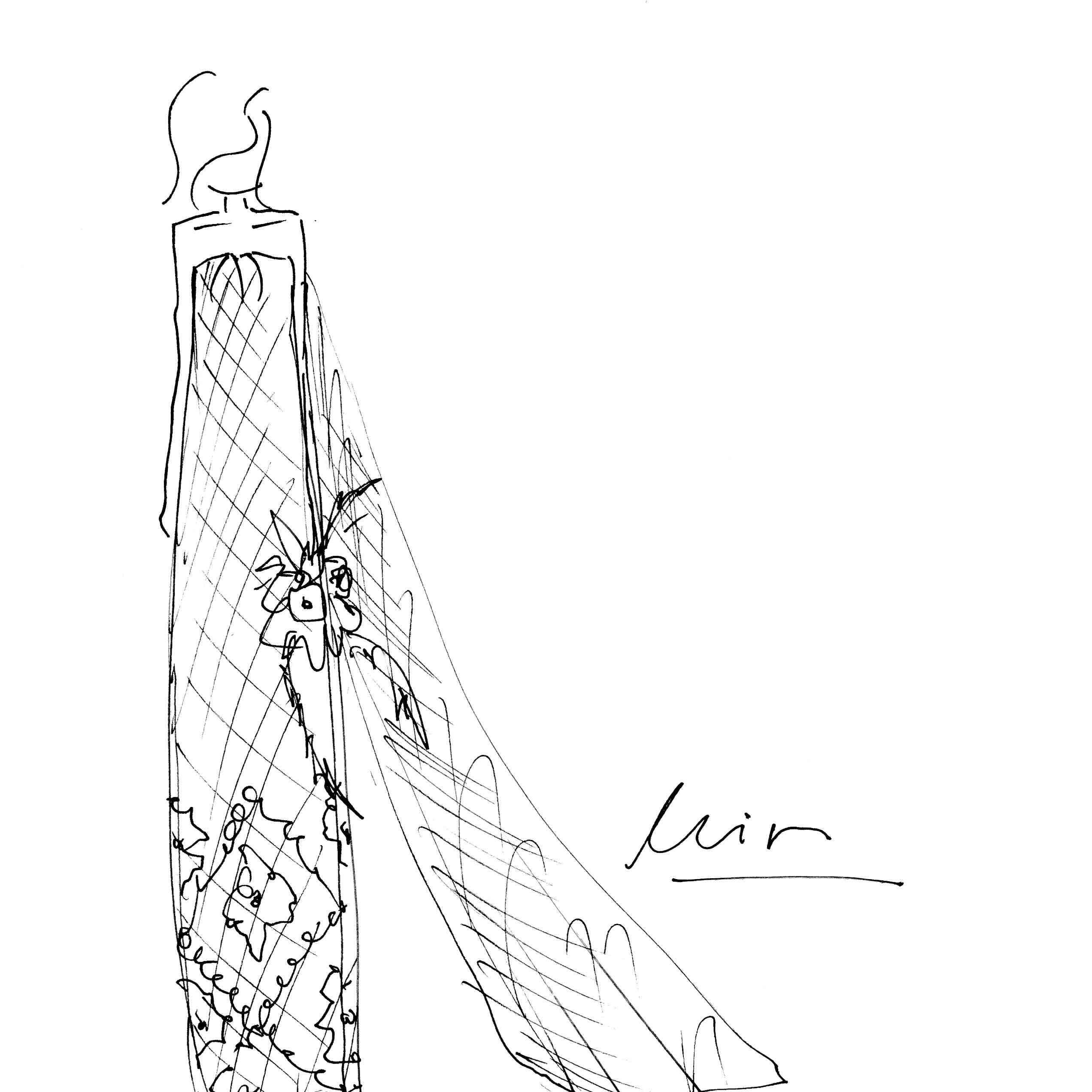 Lein Bridal Fashion Week Fall 2020 Sketch