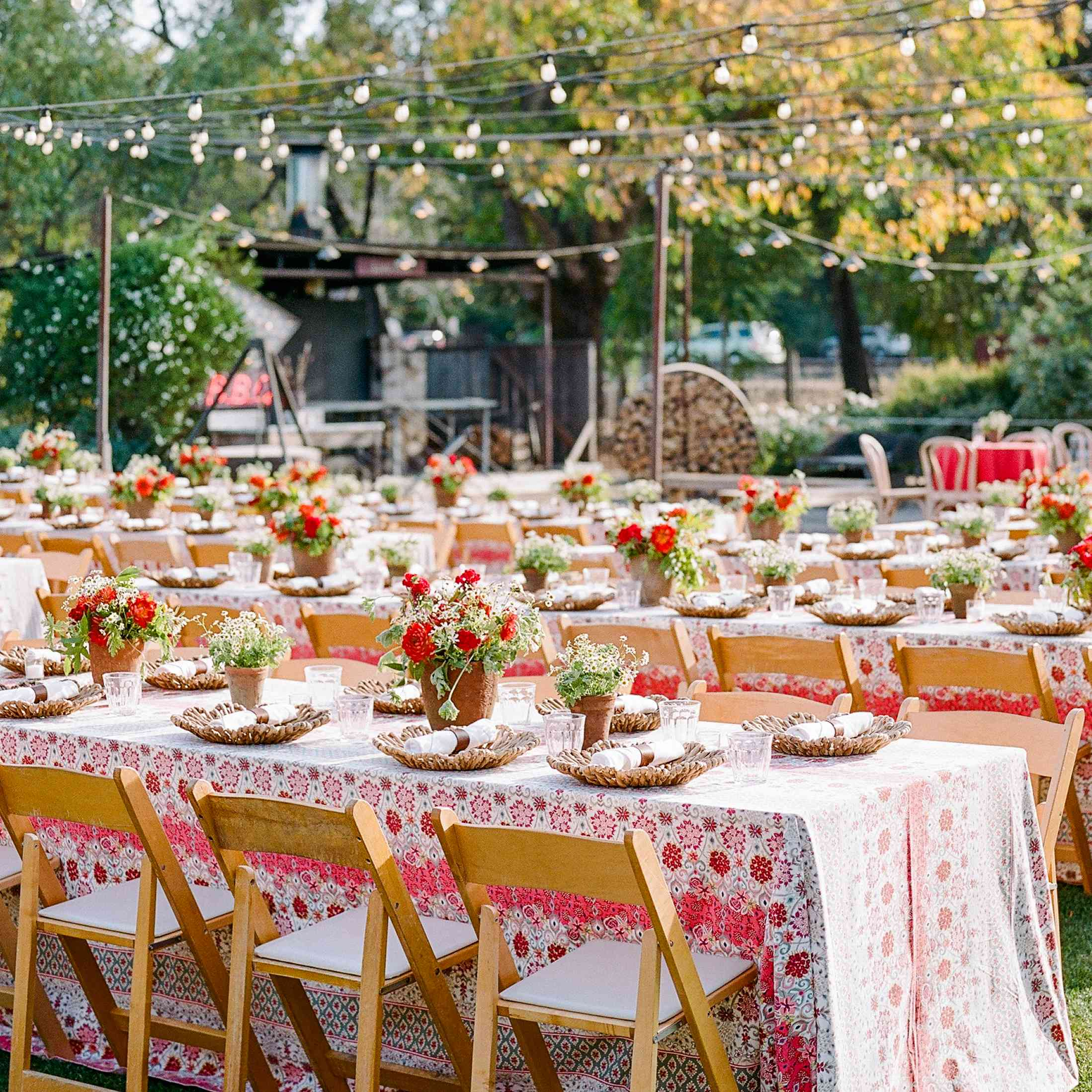 Red and white reception