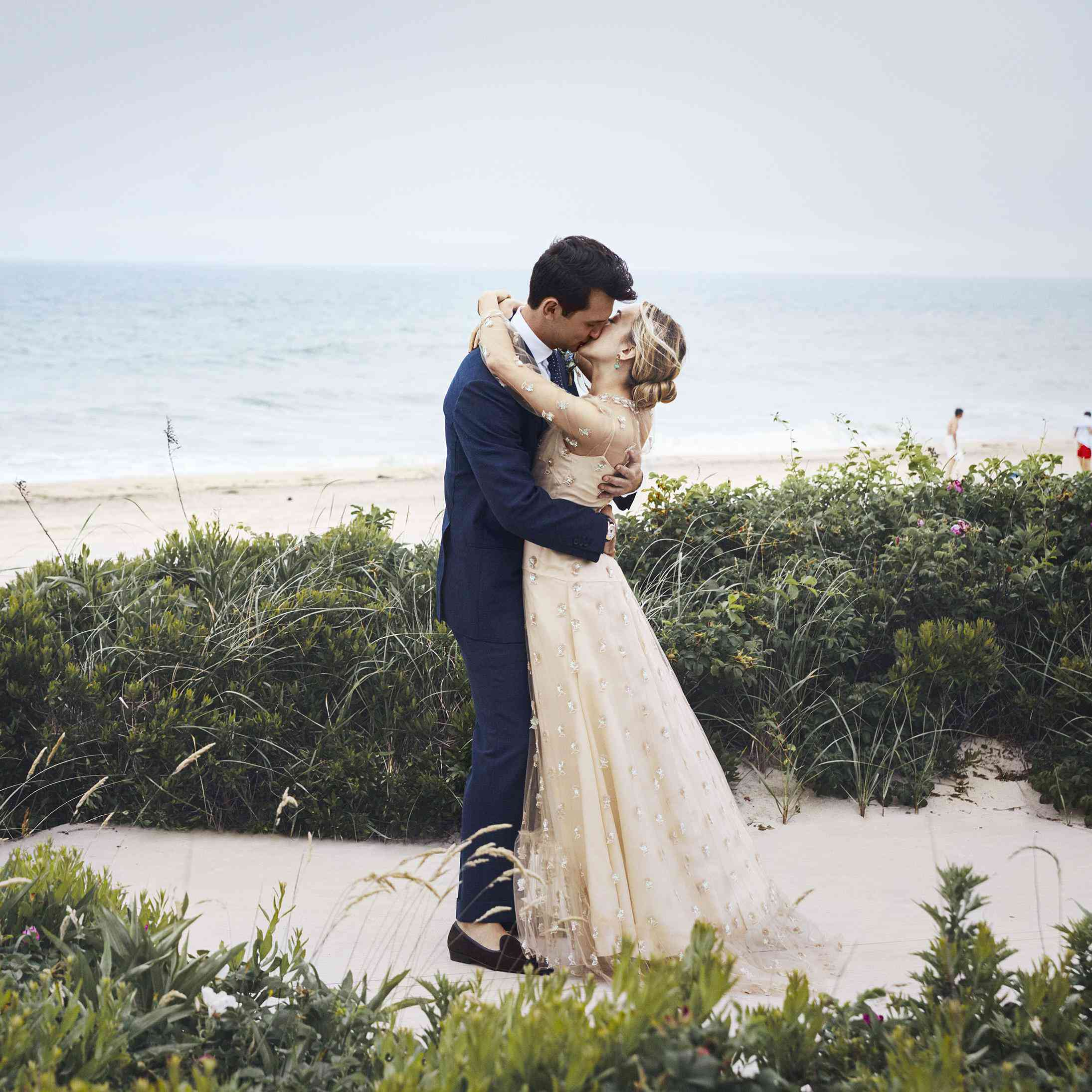An Intimate Beach Wedding at Home in Southampton, New York