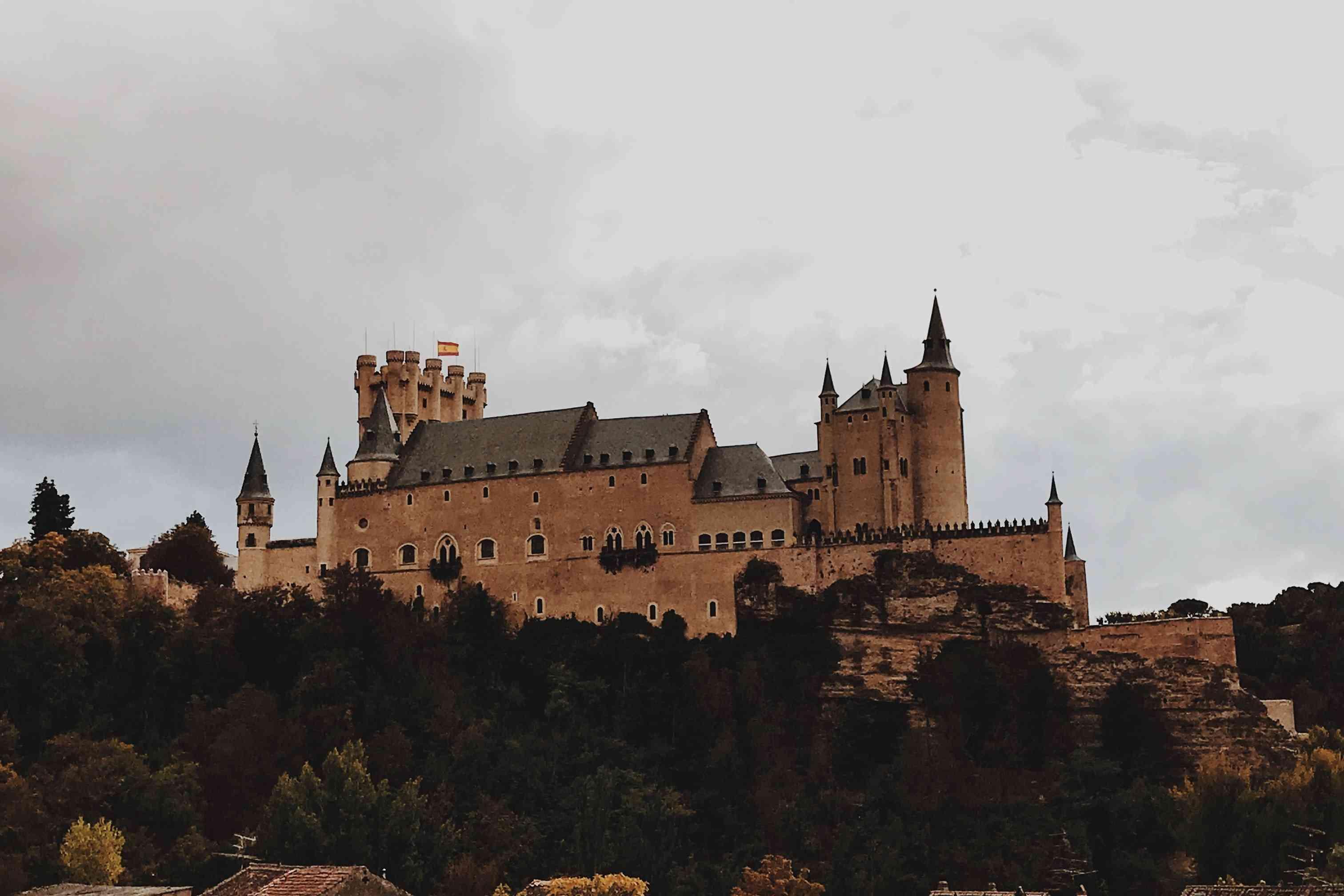 A castle in Segovia, Spain