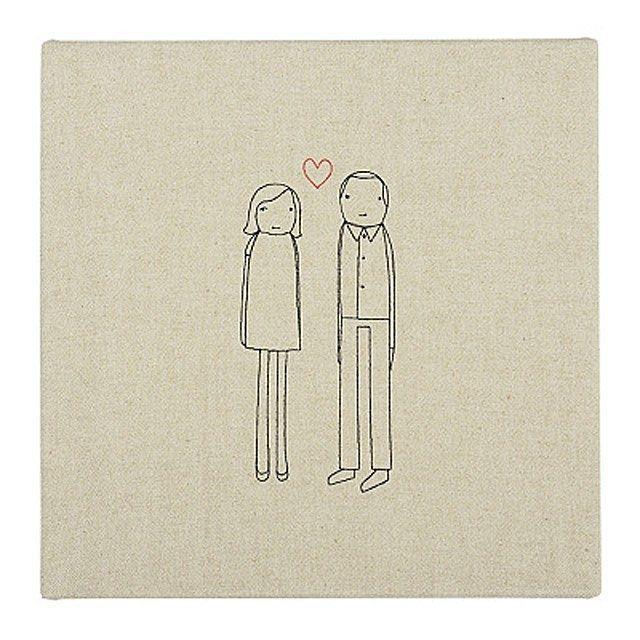 Uncommon Goods Personalized Couple Art