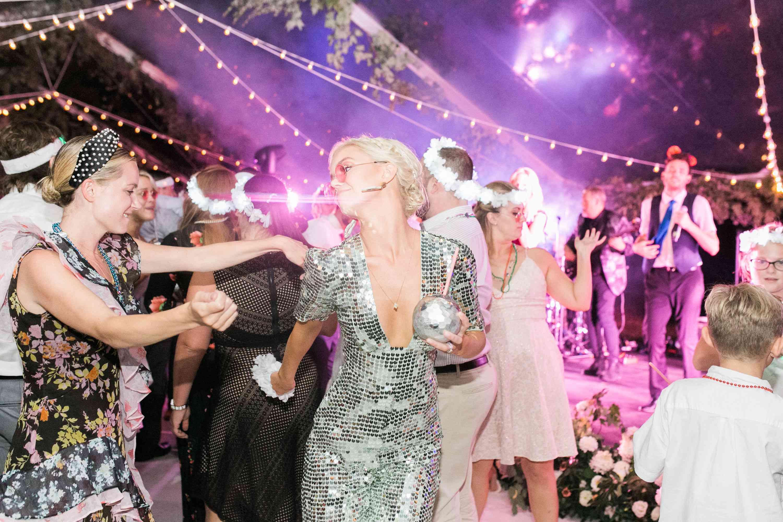 dancing reception dance floor lights