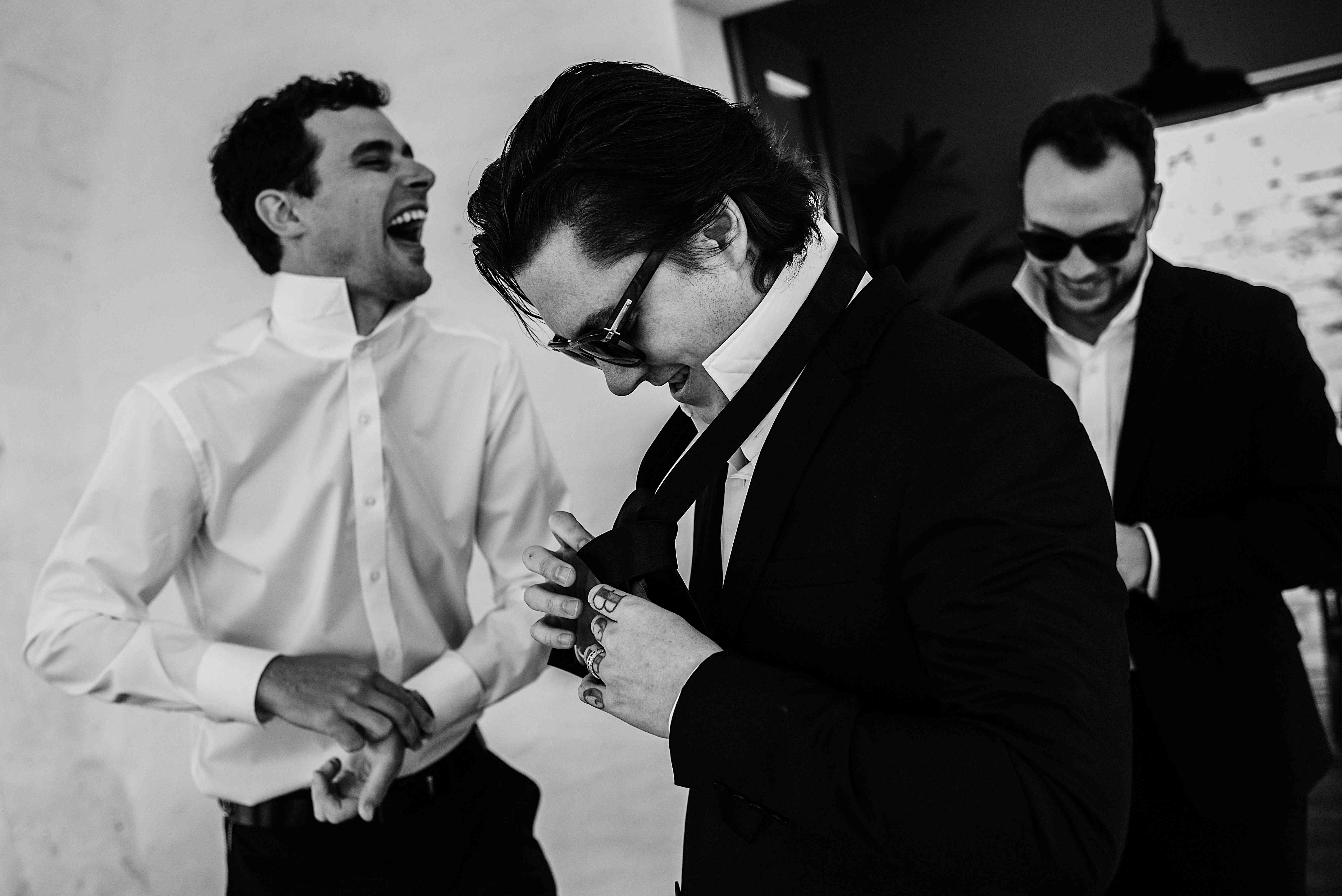 <p>Groom and groomsmen getting ready</p><br><br>
