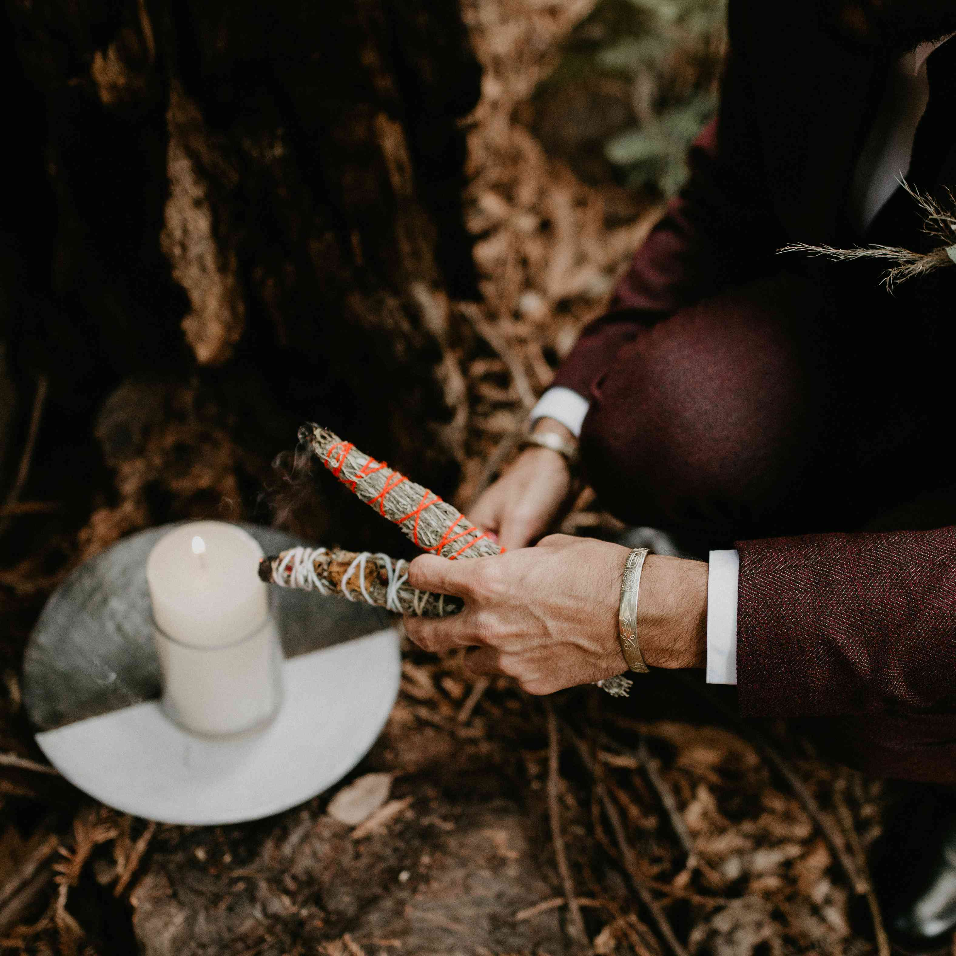 <p>sage smudge sticks and candles</p><br><br>