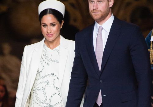 Prince Harry and Meghan Markle attend the Commonwealth Day service