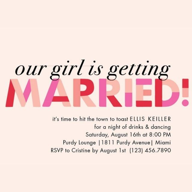 Paper Source Our Girl Is Getting Married Bachelorette Party Invitation