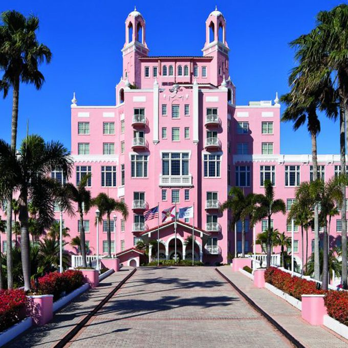 """The beachfront hotel , built in the 1920s, is a picturesque spot for a happy wedding day. But should you think it's all flamingo-colored exteriors and palm trees, think again. The stunning hotel also comes with a heartbreaking love story. Rumor has it that Thomas Rowe built the hotel for his love, whose parents did not approve of their marriage. The couple never saw each other again after a forced separation — at least, not until the after life. Look out for the pair walking hand-in-hand around the hotel gardens as you say """"I do."""""""
