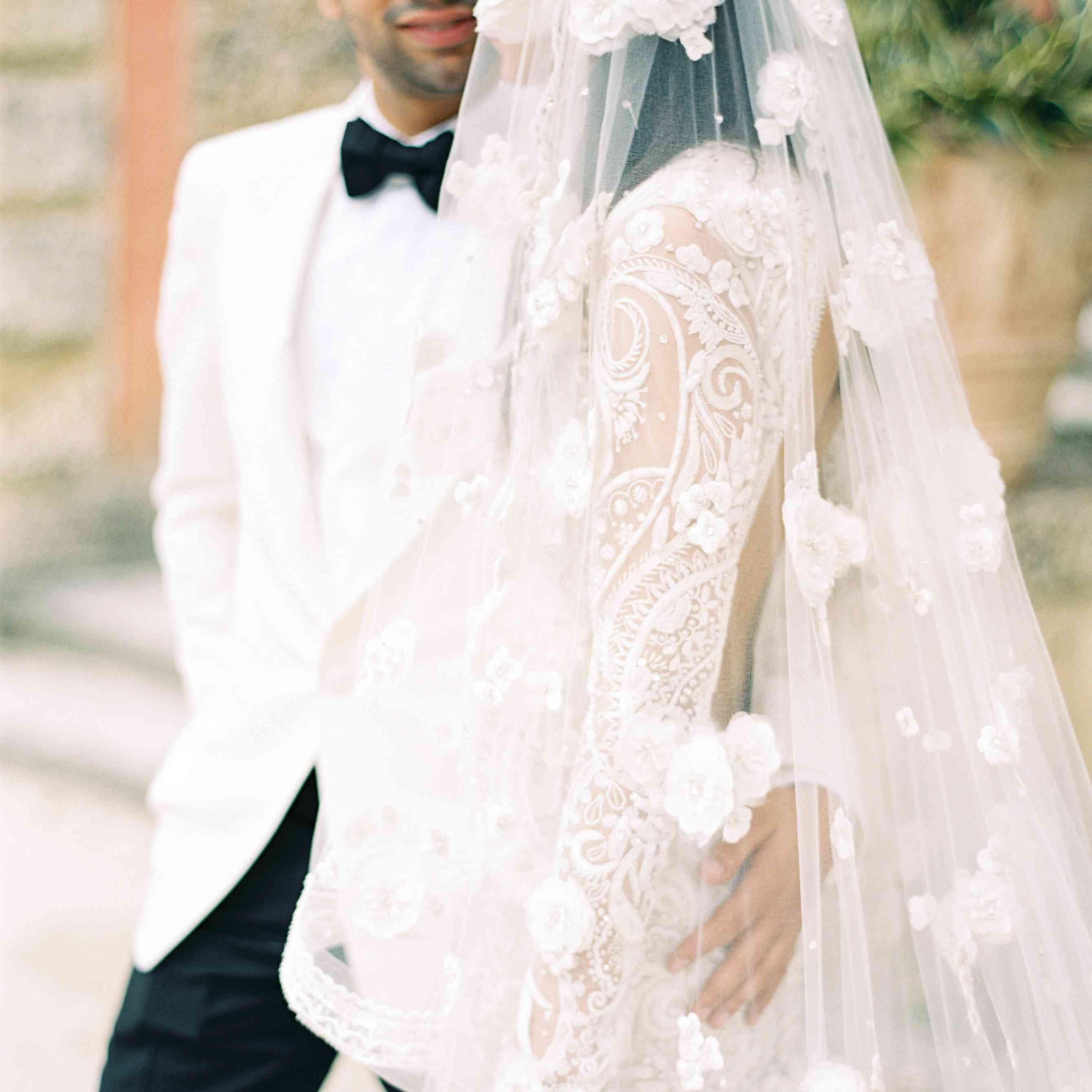 Bride in Lace Veil