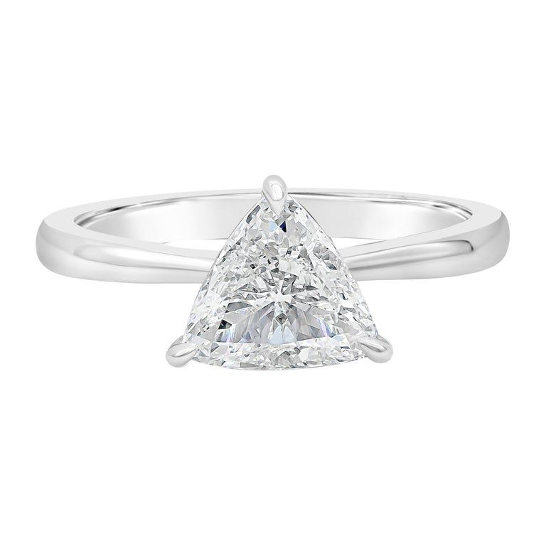 1stDibs GIA Certified 1.20 Carat Trillion Diamond Solitaire Engagement Ring