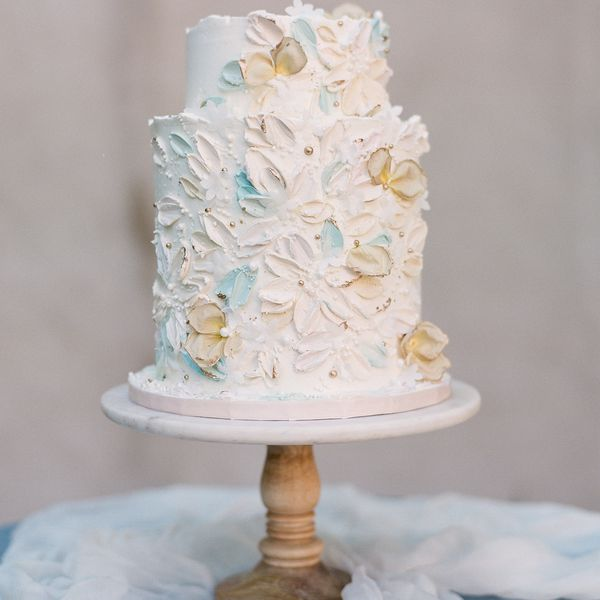 buttercream painted cake