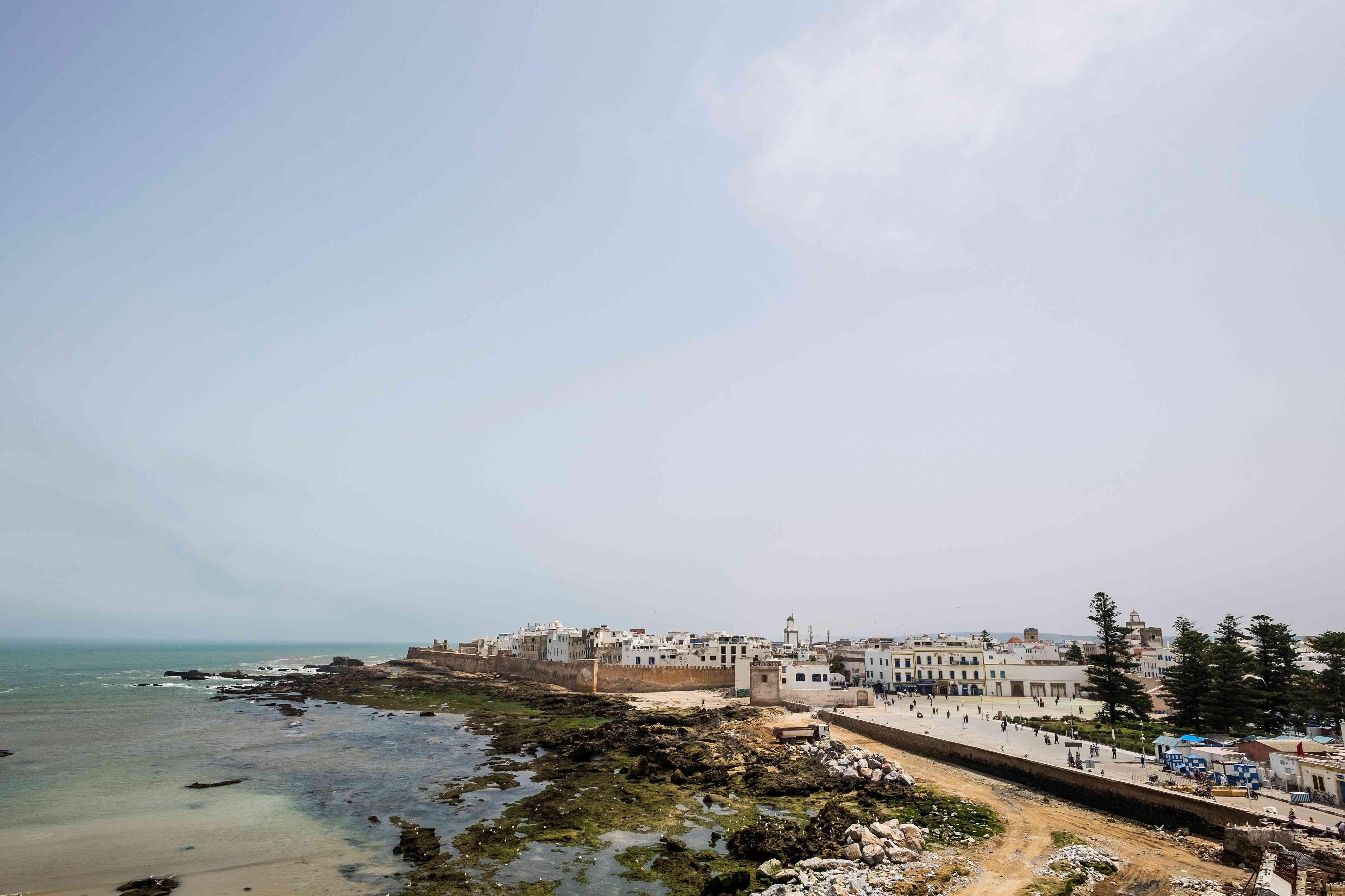 <p>A landscape view of Essaouira, a coastal town in Morocco.</p>
