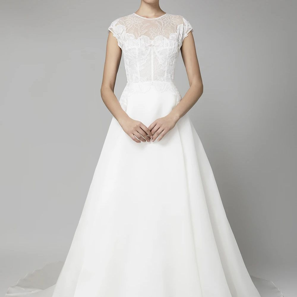 sheer neckline gown