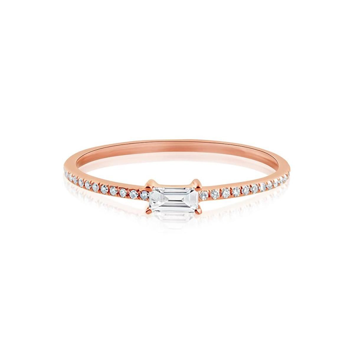 J. Luu Horizontal Baguette Diamond Ring