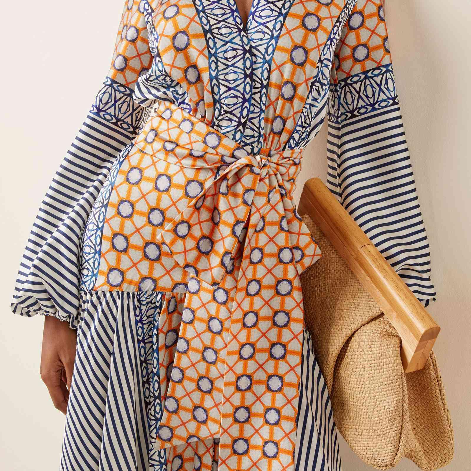 Silvia Tcherassi Felicity Printed Silk Maxi Wrap Dress