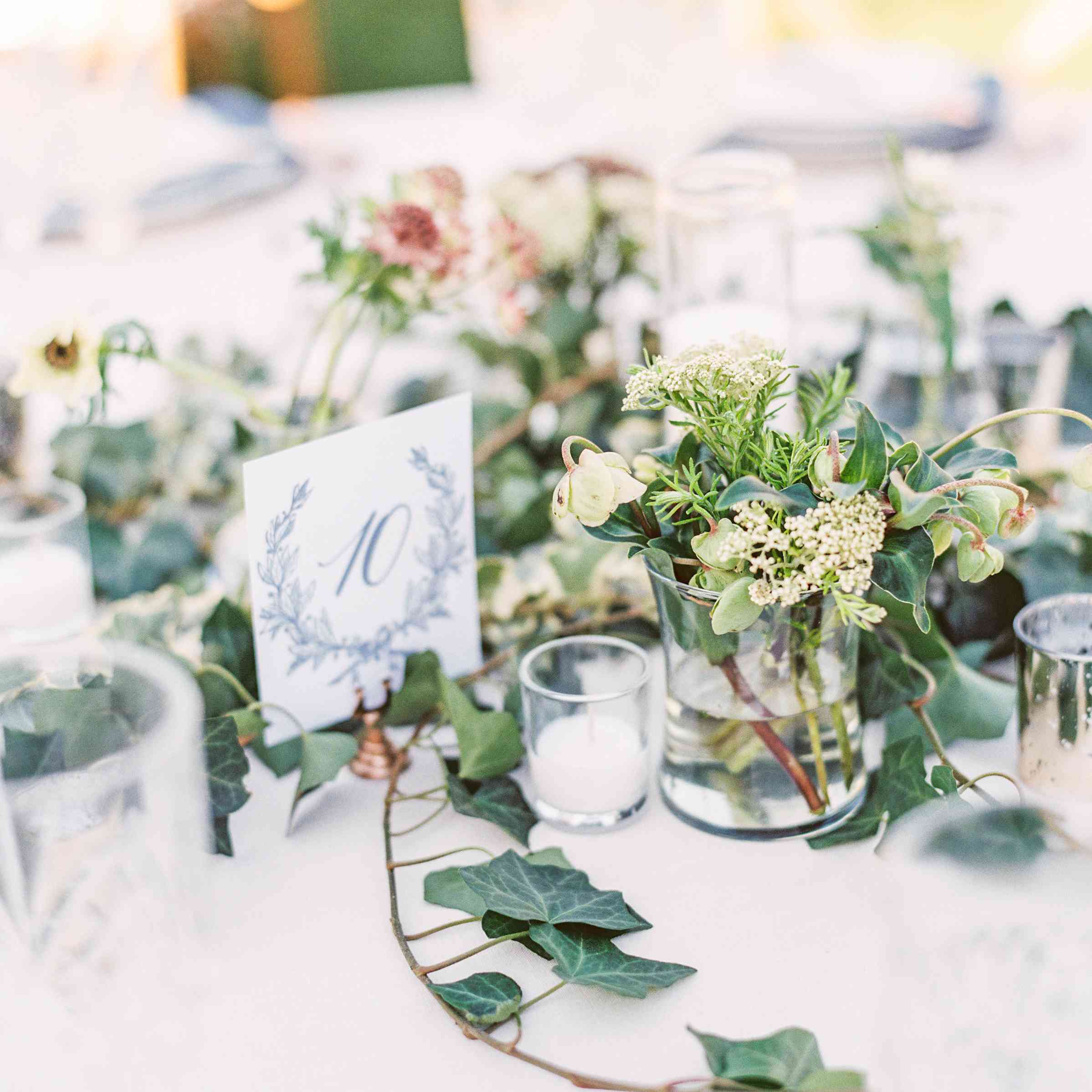 Ivy-Covered White Tabletop