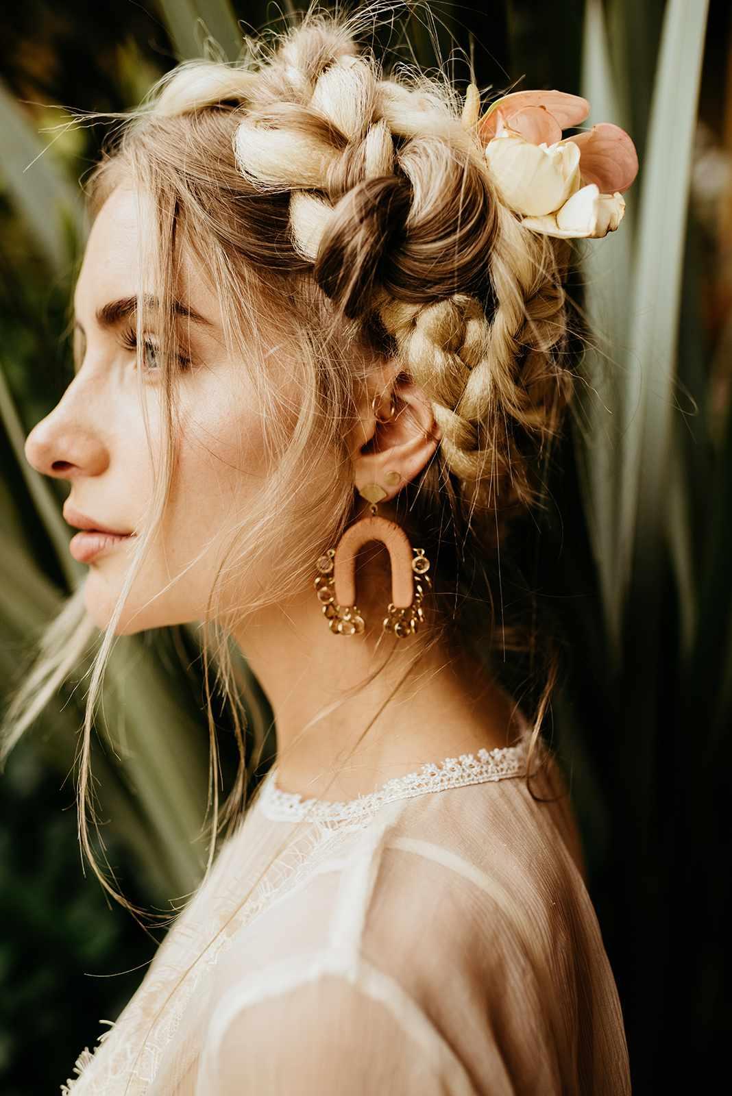 <p>milkmaid braid</p>