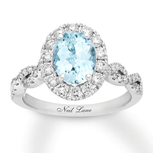 Neil Lane Aquamarine Engagement Ring