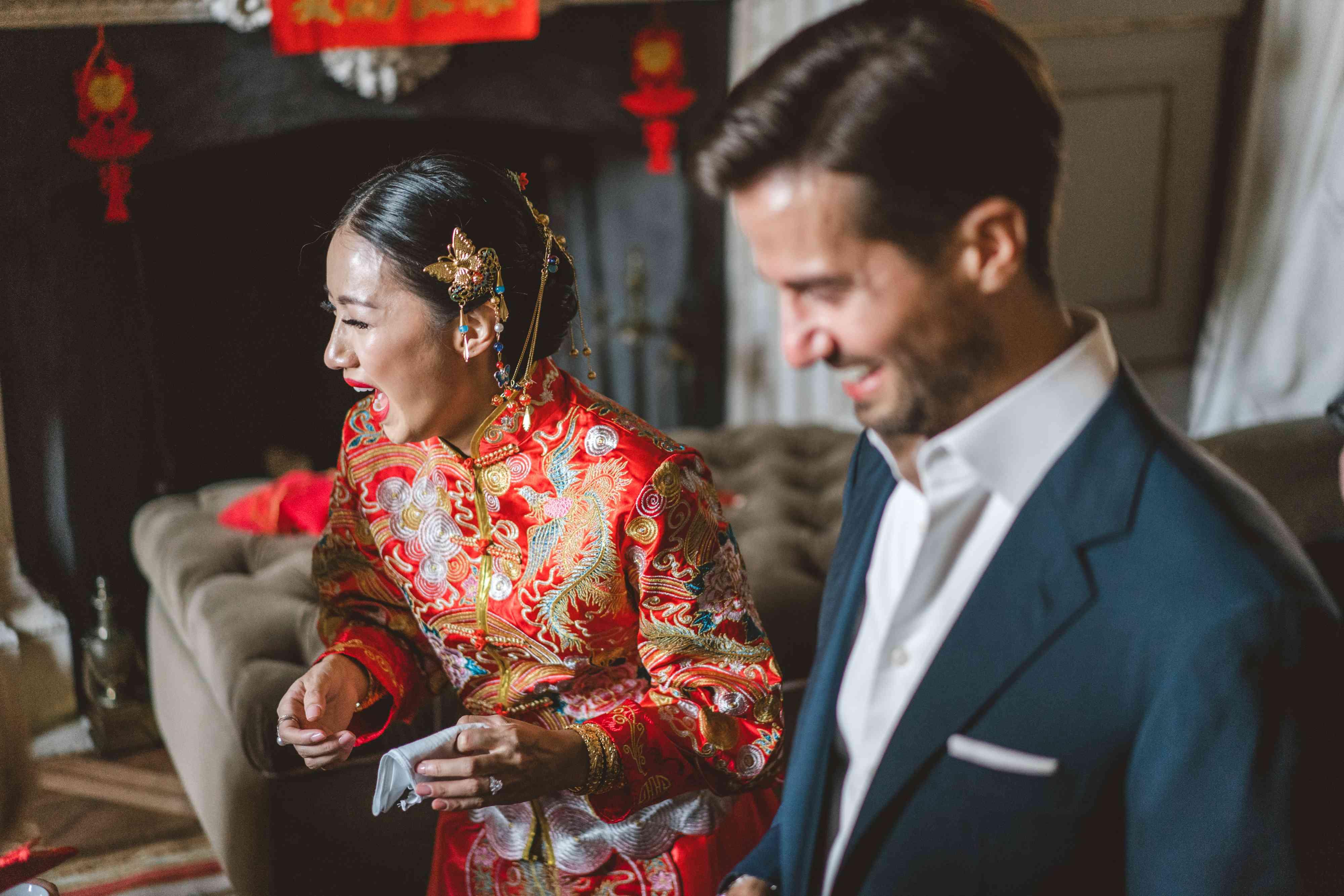 couple during tea ceremony