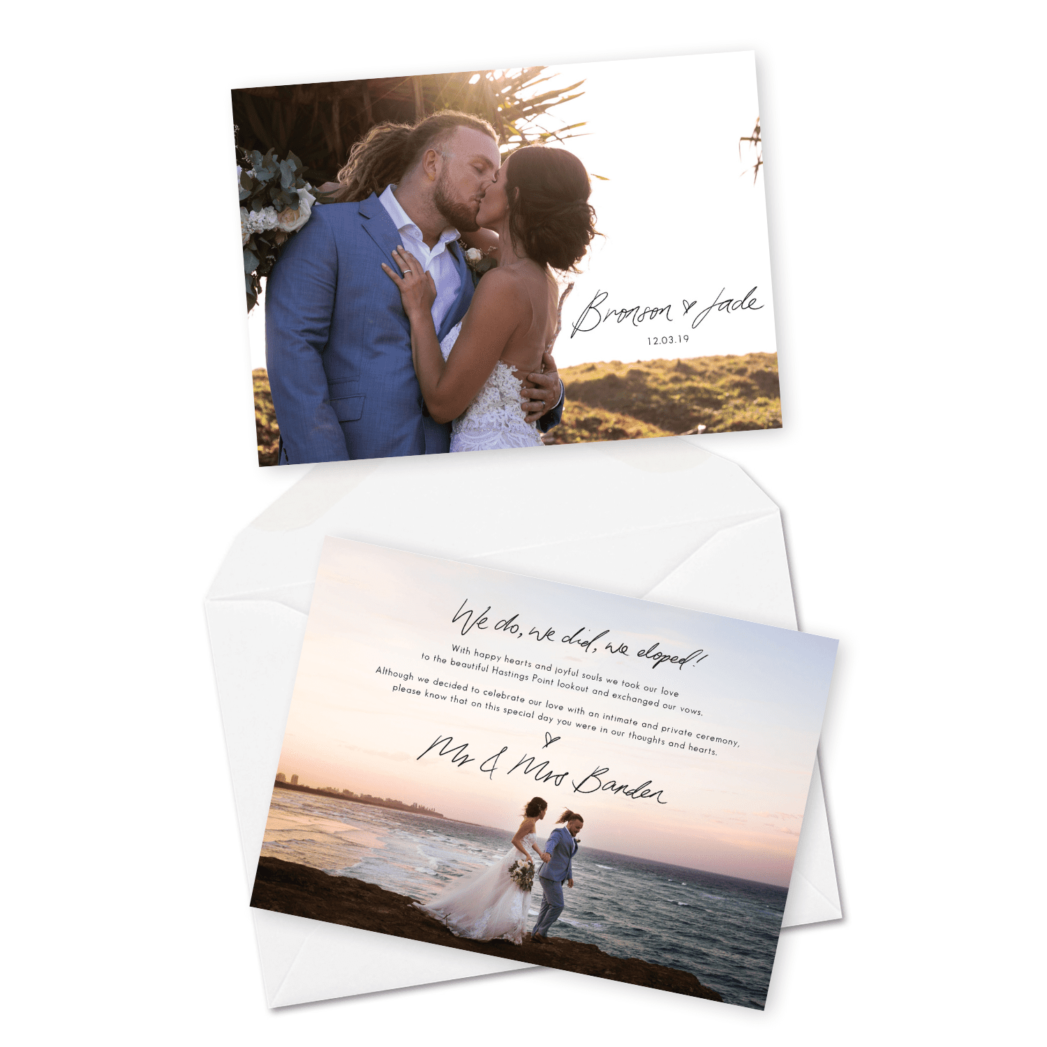 For the Love of Stationery Elopement Card