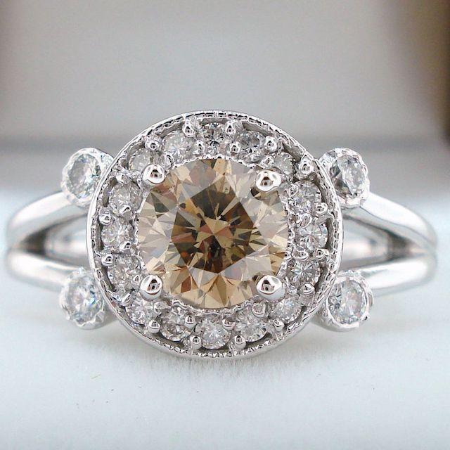 Jewelry by Garo Champagne Brown Diamond Engagement Ring