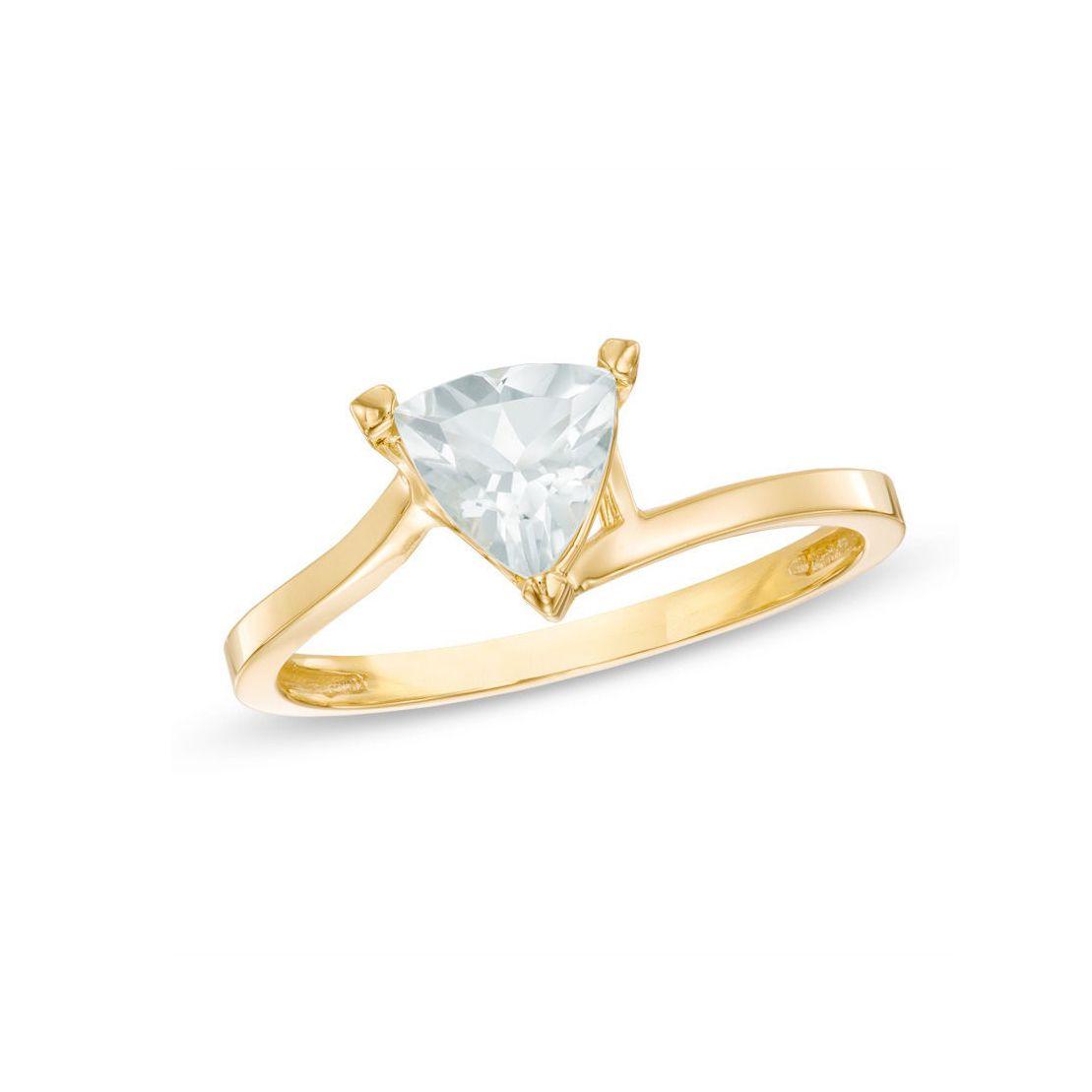 Zales Trillion-Cut Aquamarine Ring