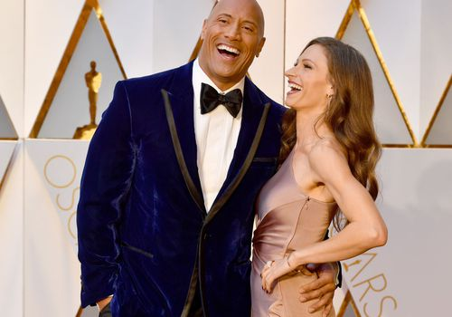 : Dwayne Johnson, and Lauren Hashian attend the 89th Annual Academy Awards.