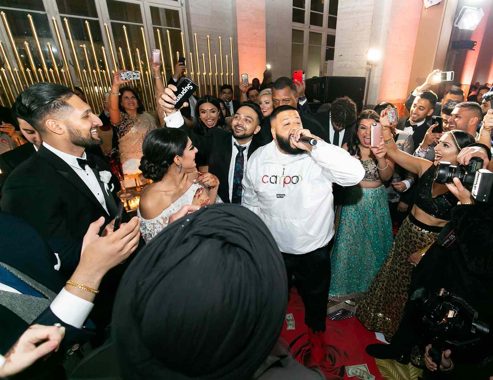 Reception dance floor DJ Khaled
