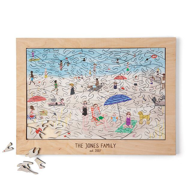 Personalized Beach Family Puzzle