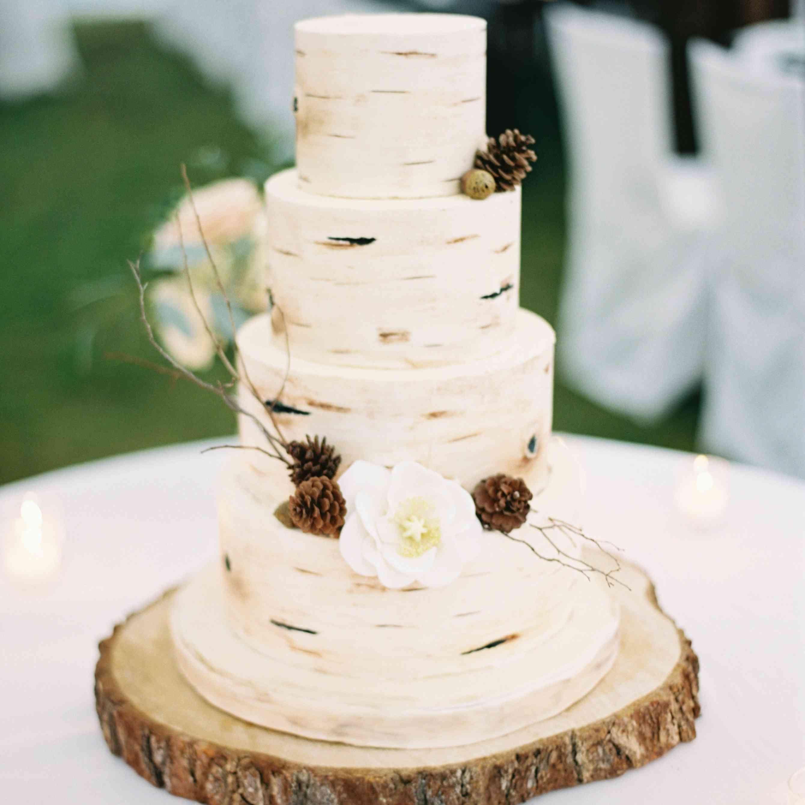 Wood-Inspired Wedding Cake