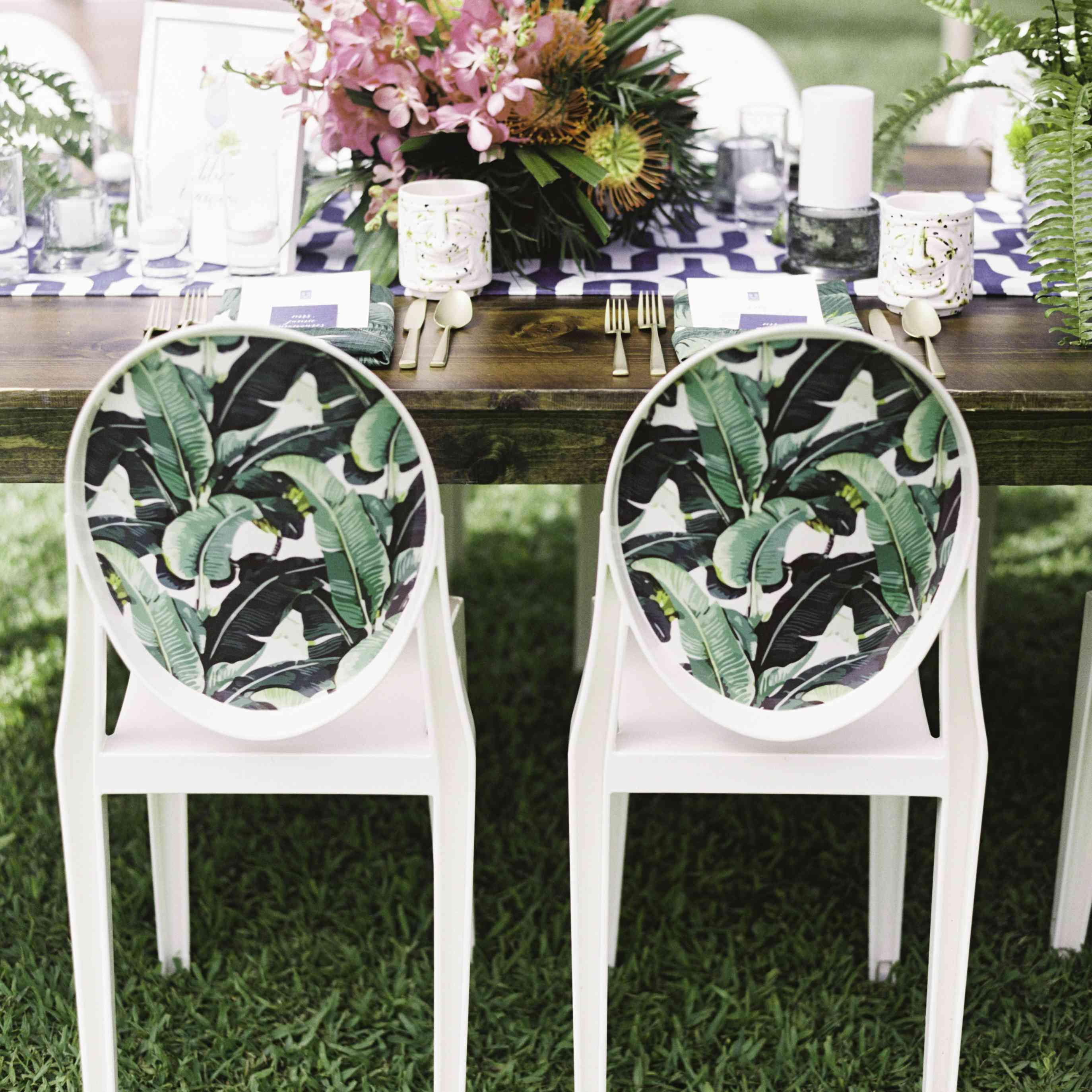 Palm-Print Chairs