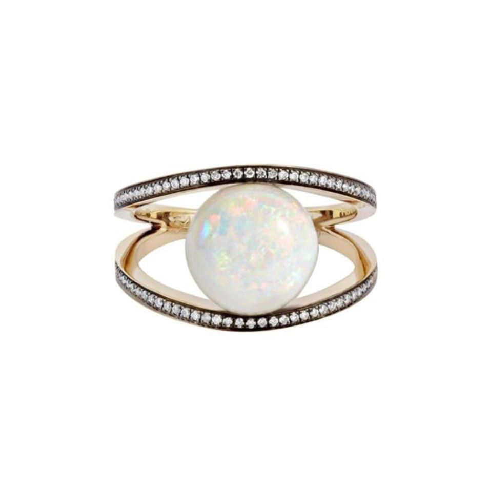 Noor Fares Opal Rhombus Ring