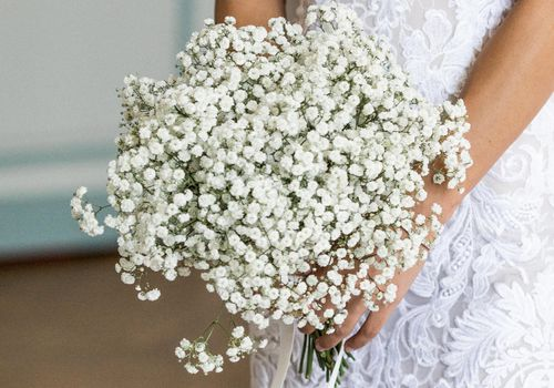 <p>baby's breath bouquet</p>