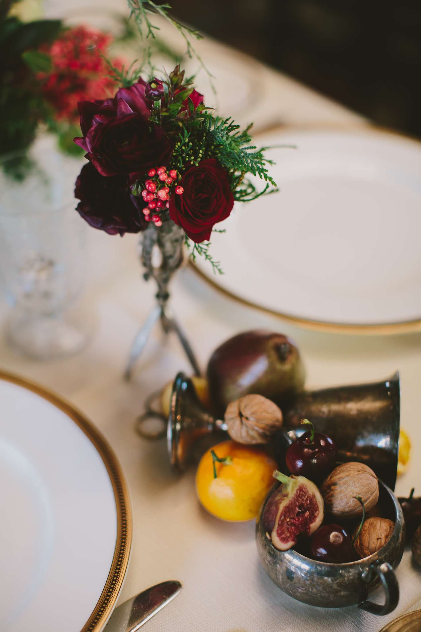figs and fruits on a table