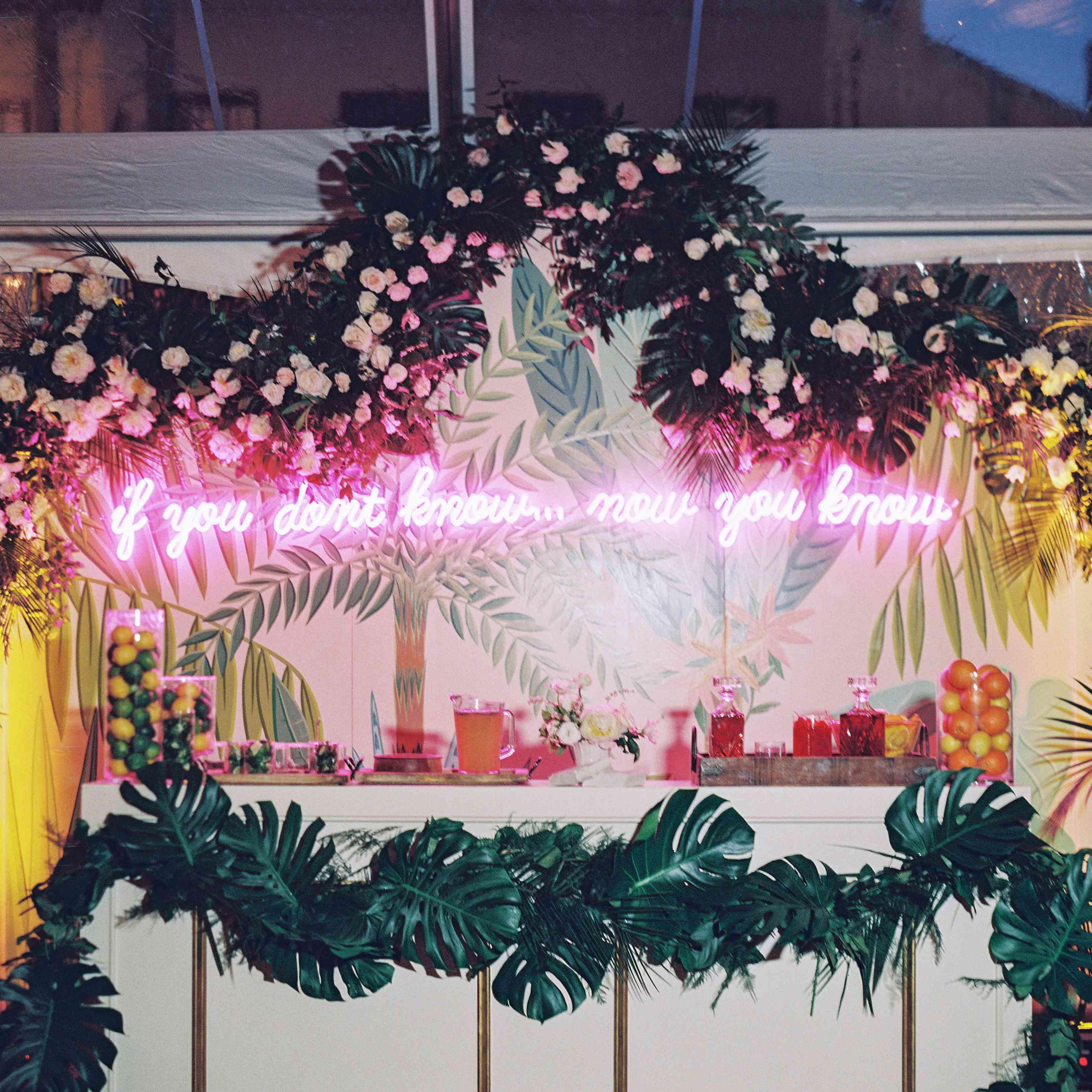 wedding bar neon sign