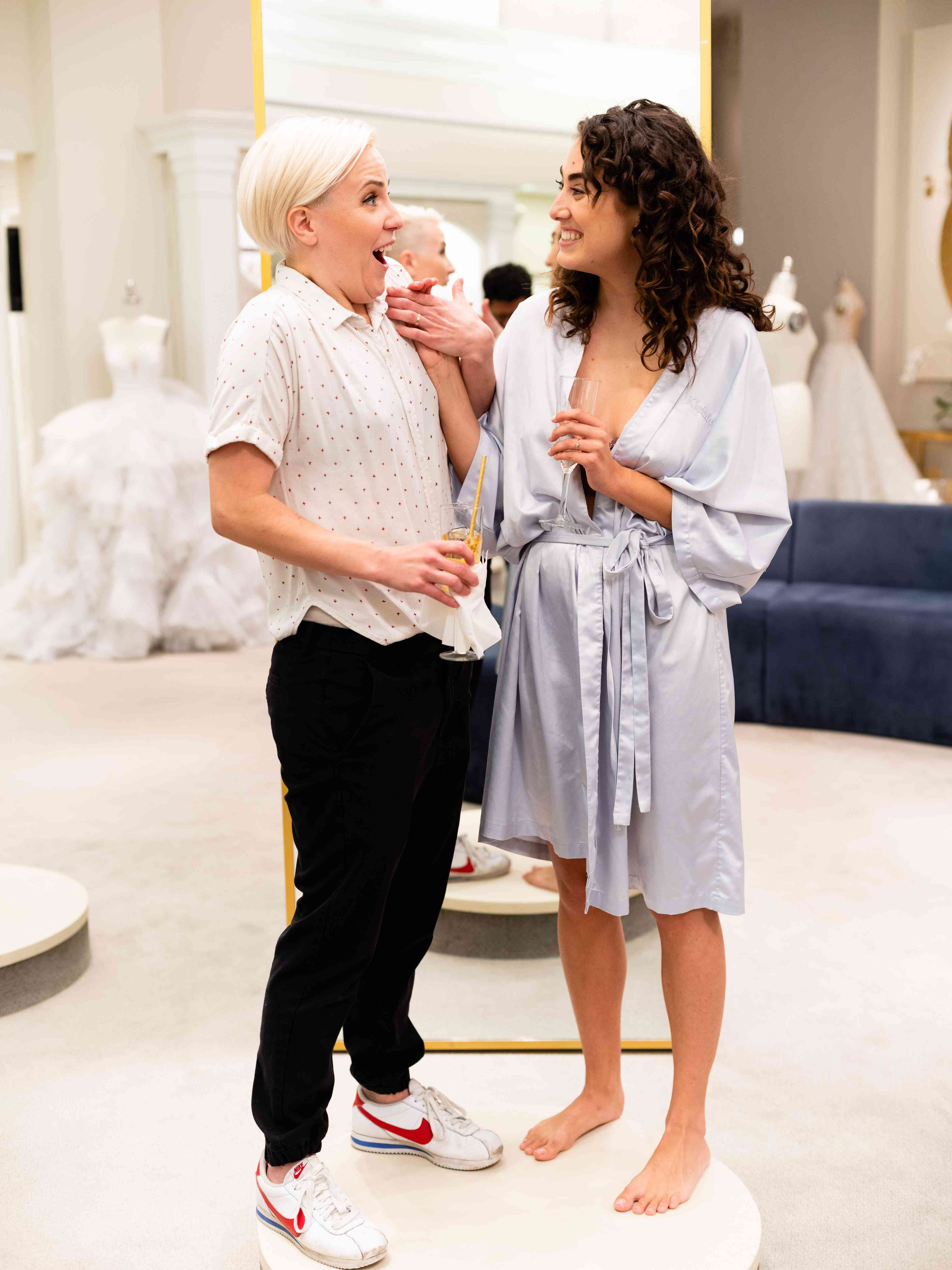 Exclusive: We Went Shopping with Hannah Hart and Ella Mielniczenko at Kleinfeld