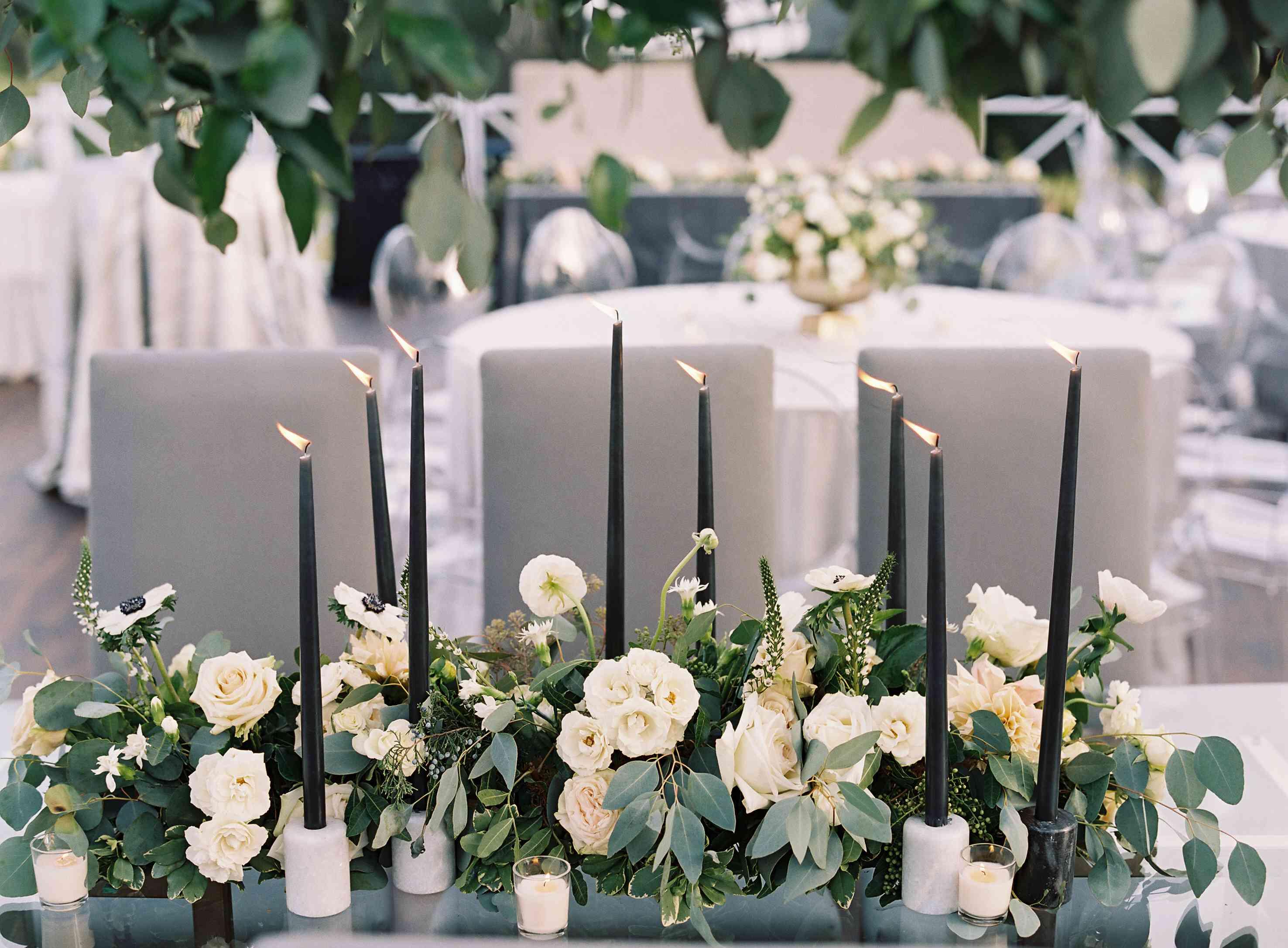 <p>Candlelit table centerpiece</p><br><br>