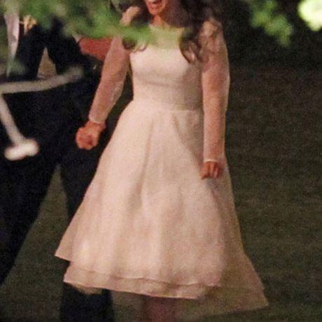 Natalie Portman marries Benjamin Millepied in Rodarte, 2012