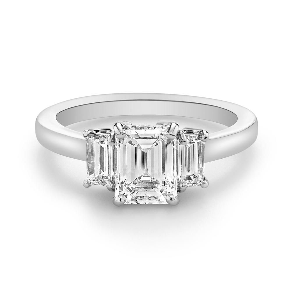 1ca5f02407d23 75 Stunning Three Stone Engagement Rings For Every Style