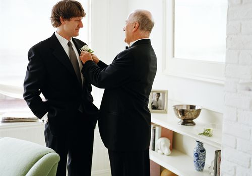 A groom and his dad.