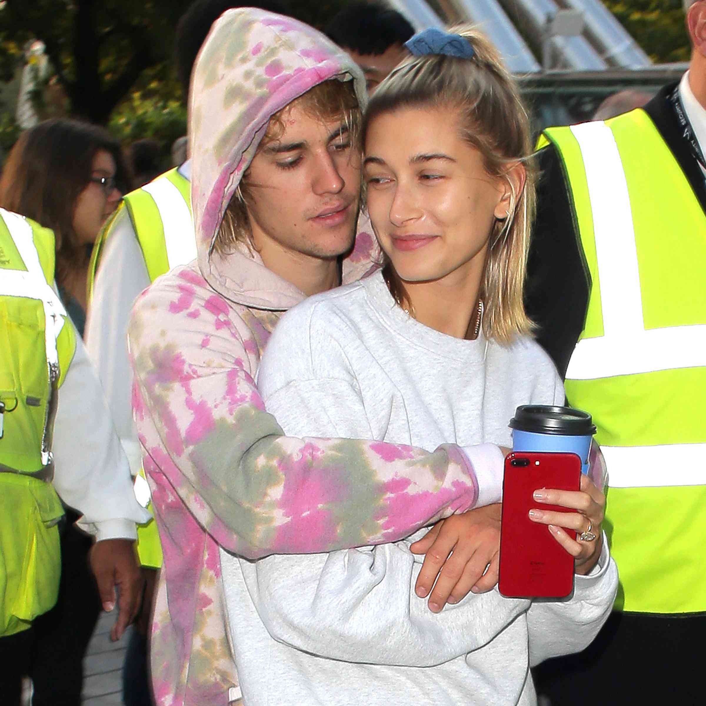 951482b95ccec Justin Bieber and Hailey Baldwin Were Spotted Wearing Their Wedding ...